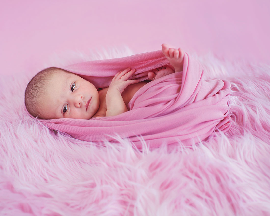 Baby Emerie in pink
