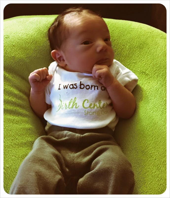 Baby Ezra Modeling His New Onesie I Was Born At The